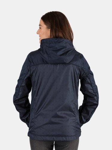 Tmavě modrá dámská vzorovaná lehká nepromokavá bunda SAM 73