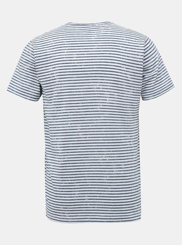 Modro-bílé pánské pruhované basic tričko SAM 73