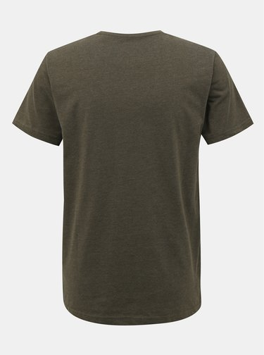 Kaki pánske basic tričko SAM 73