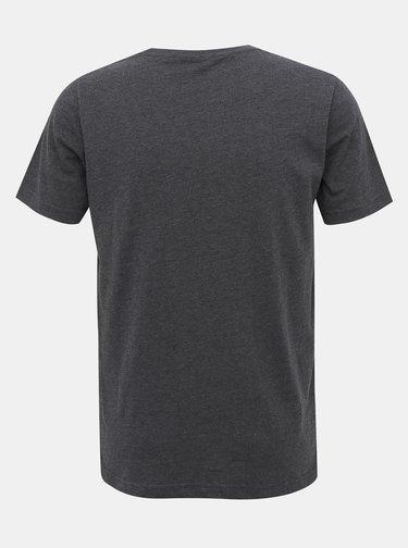 Tmavošedé pánske basic tričko SAM 73