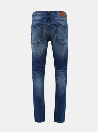 Modré skinny fit rifle Burton Menswear London