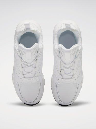 Biele dámske kožené tenisky Reebok Classic Aztrek Double