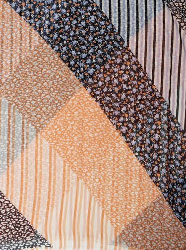 Oranžovo-modrý dámský šátek s leopardím vzorem Tom Tailor