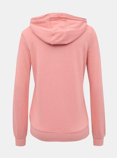 Světle růžová dámská basic mikina Alcott