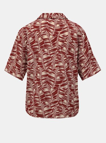 Červená dámska vzorovaná košeľa Alcott