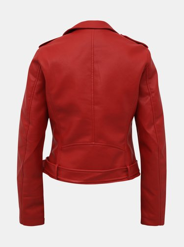 Červená dámska koženková bunda Alcott