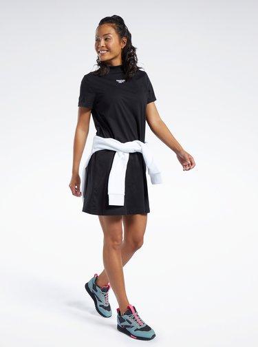 Černé šaty s výšivkou Reebok