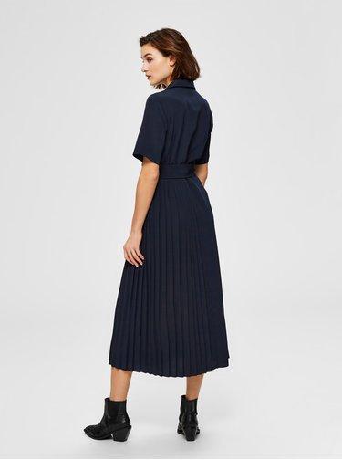 Rochii tip camasa pentru femei Selected Femme - albastru inchis