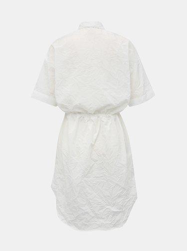 Biele košeľové šaty Alcott