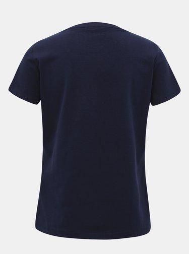 Tmavomodré dámske basic tričko GANT