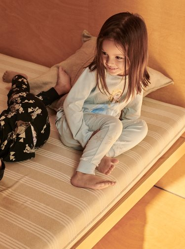 Světle modré holčičí dvojdílné pyžamo s potiskem name it Disney Frozen Cait