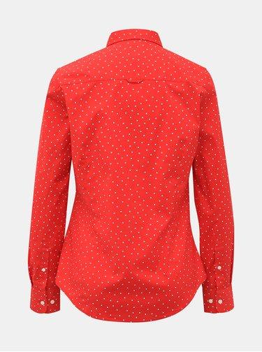 Červená dámska vzorovaná košeľa GANT
