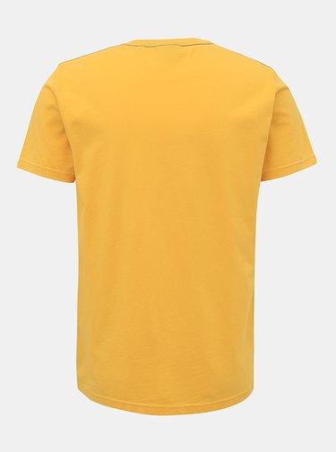 Žluté pánské tričko GANT