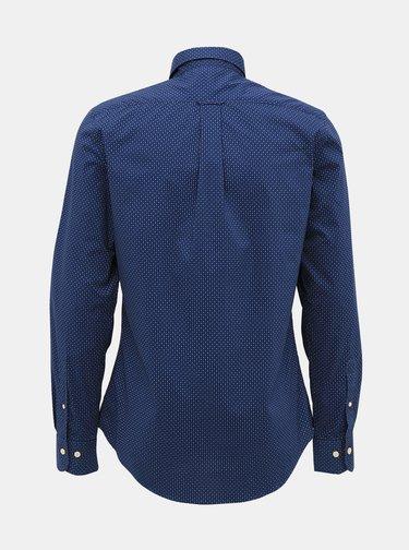 Tmavomodrá pánska vzorovaná košeľa GANT