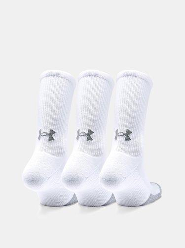 Sada tří párů bílých ponožek Heatgear Under Armour