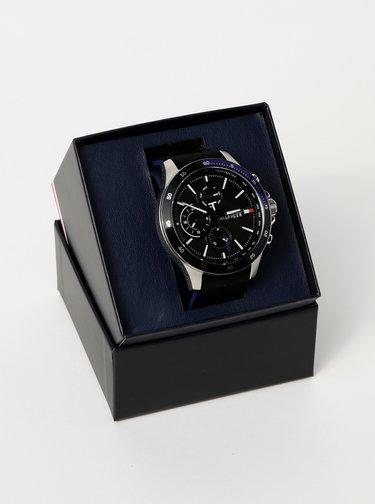 Pánské hodinky s černým silikonovým páskem Tommy Hilfiger