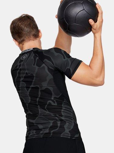 Černé pánské kompresní tričko HeatGear Under Armour