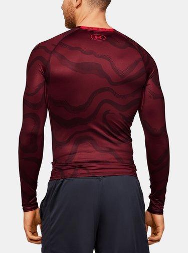 Červené pánské kompresní tričko HeatGear Under Armour