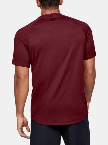 Vínové pánské tričko Tech Under Armour