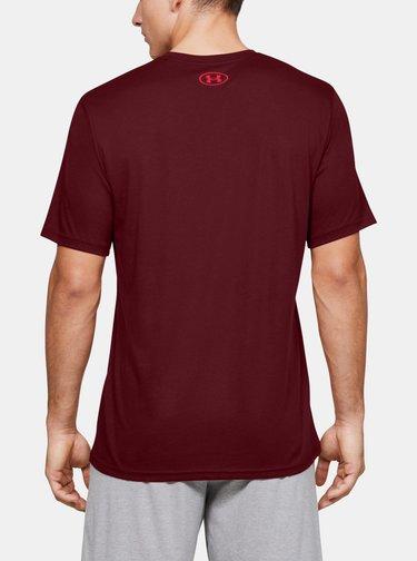 Vínové pánské tričko Big Under Armour