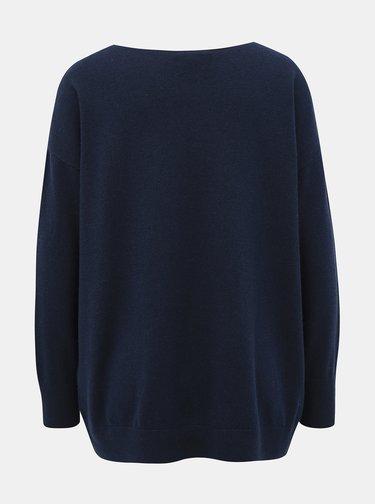 Tmavě modrý svetr s příměsí vlny Selected Femme Naya