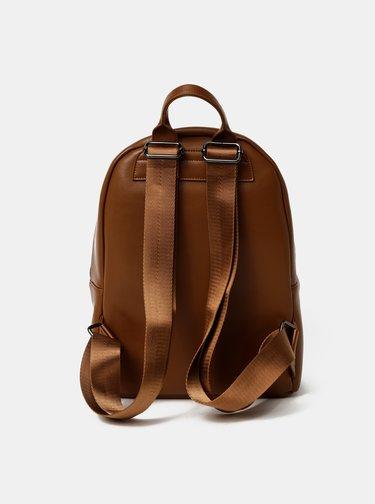 Hnedý kožený batoh Smith & Canova Around
