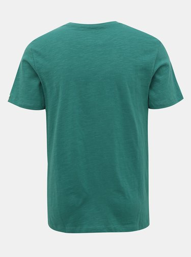 Zelené tričko s potlačou Jack & Jones Souvenir