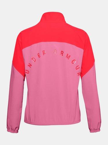 Růžový dámský anorak Under Armour