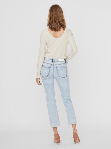 Světle modré zkrácené bootcut džíny VERO MODA Sheila