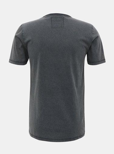 Šedé tričko s potiskem ONLY & SONS Casper