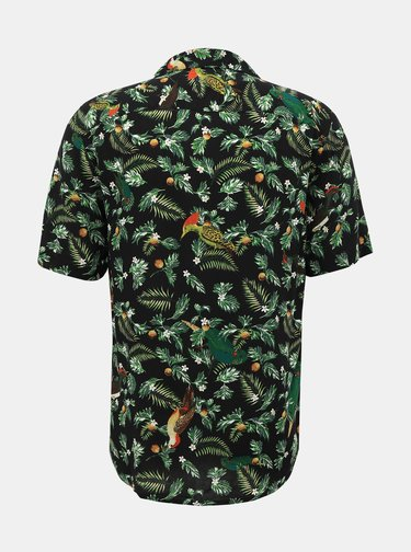 Čierna vzorovaná regular fit košeľa ONLY & SONS Allan