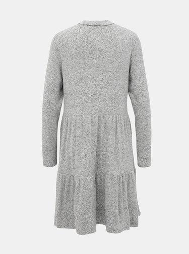 Šedé svetrové šaty VERO MODA Dorthe