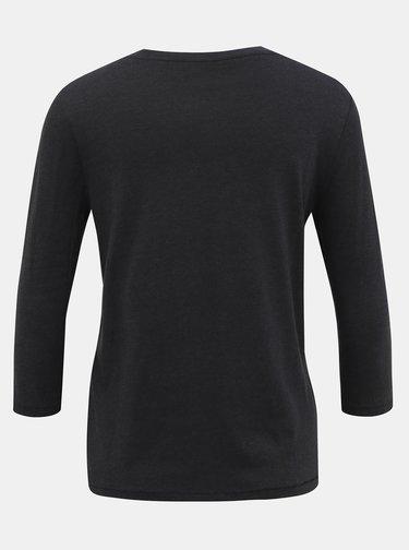Černé tričko s 3/4 rukávem ONLY Rosely