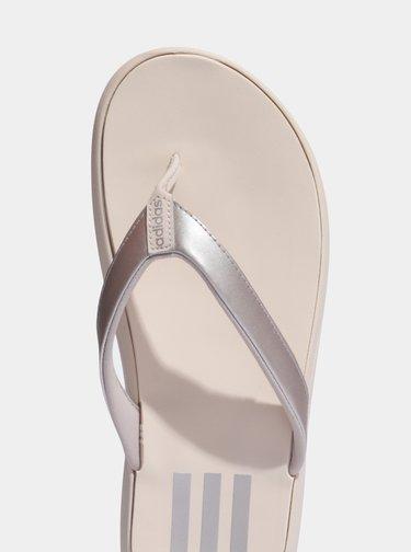 Krémové dámské žabky adidas CORE