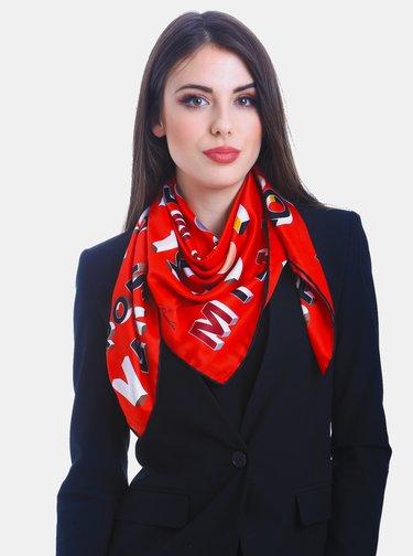 Červený dámský vzorovaný šátek Versace 19.69
