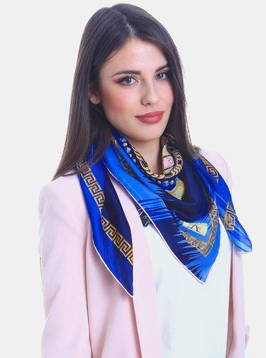 Modrý dámský vzorovaný šátek Versace 19.69