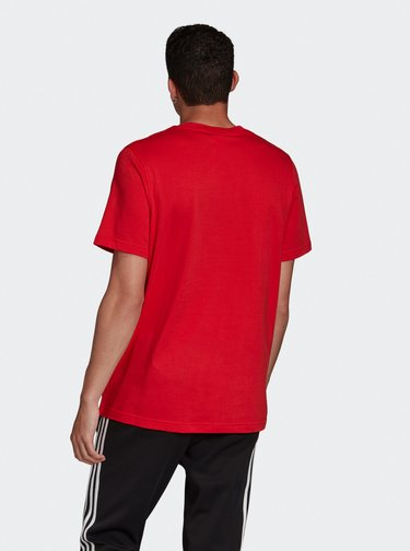 Červené pánské tričko s potiskem adidas Originals