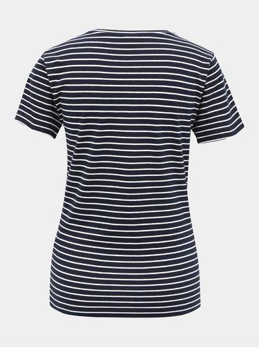 Tmavě modré pruhované basic tričko Jacqueline de Yong Best Live