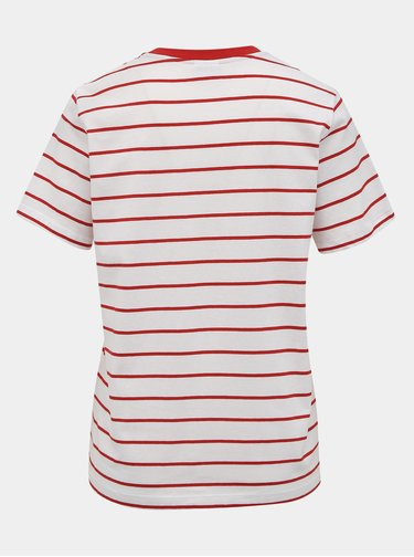 Bílé pruhované basic tričko Jacqueline de Yong Best Life