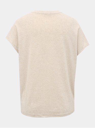 Krémové basic tričko Jacqueline de Yong Line