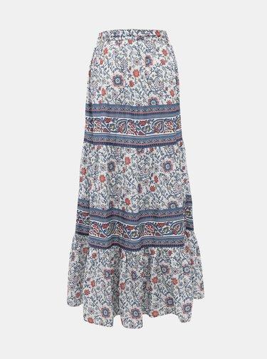 Modrá vzorovaná maxi sukně Pepe Jeans Ras