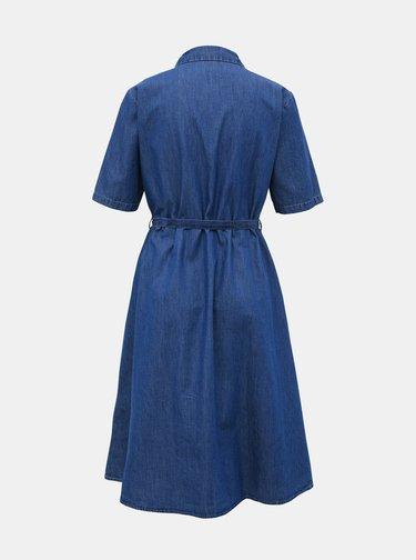 Modré džínové košilové šaty Jacqueline de Yong Roger
