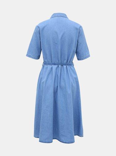 Svetlomodré rifľové košeľové šaty Jacqueline de Yong Roger