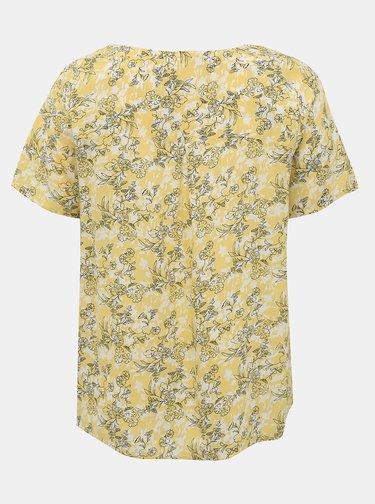 Žlutá květovaná halenka ONLY CARMAKOMA Bloom