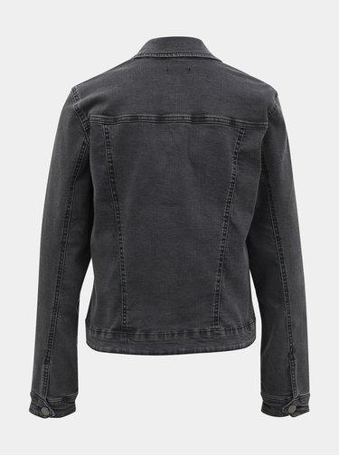 Tmavě šedá džínová bunda M&Co