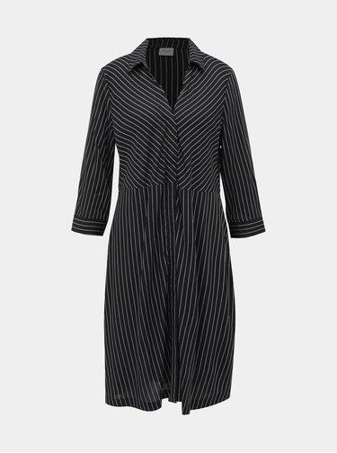 Čierne pruhované košeľové šaty Jacqueline de Yong Robbie