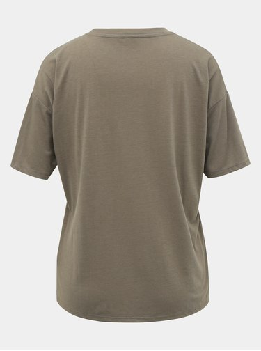 Kaki tričko s vreckom M&Co