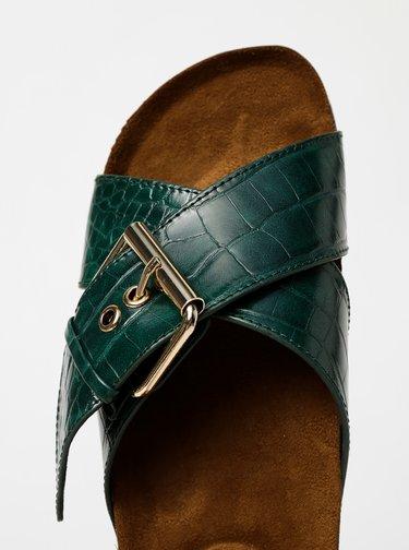 Zelené šľapky s krokodýlím vzorom ONLY Mathilda