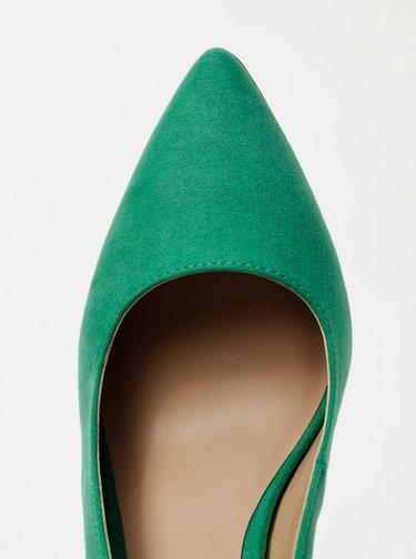 Zelené lodičky v semišové úpravě ONLY Pixie