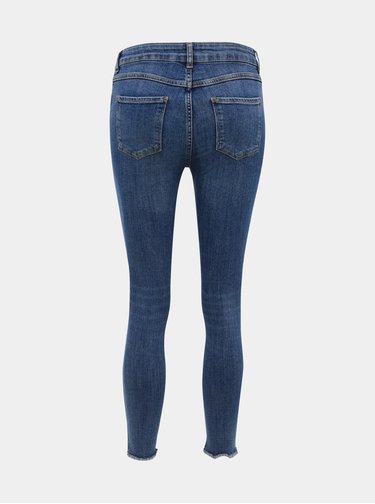 Modré zkrácené skinny fit džíny M&Co Petite